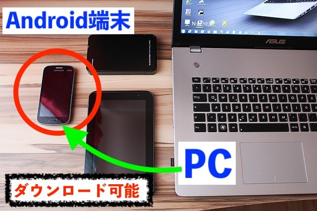 pcからAndroid端末