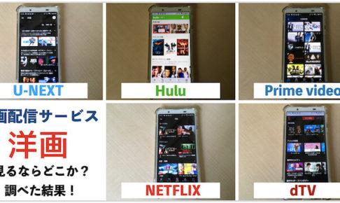 人気VOD5社