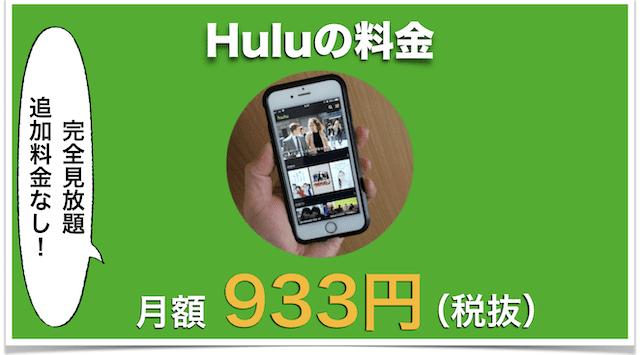 Huluの料金を説明してるボード