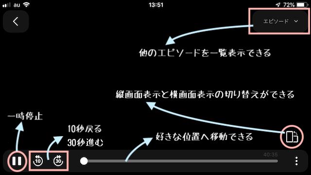 u-nextの視聴画面