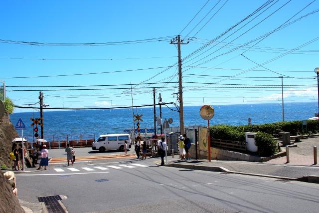 スラムダンクOPの鎌倉高校前踏切